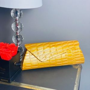 Bags - Vintage Yellow Clutch